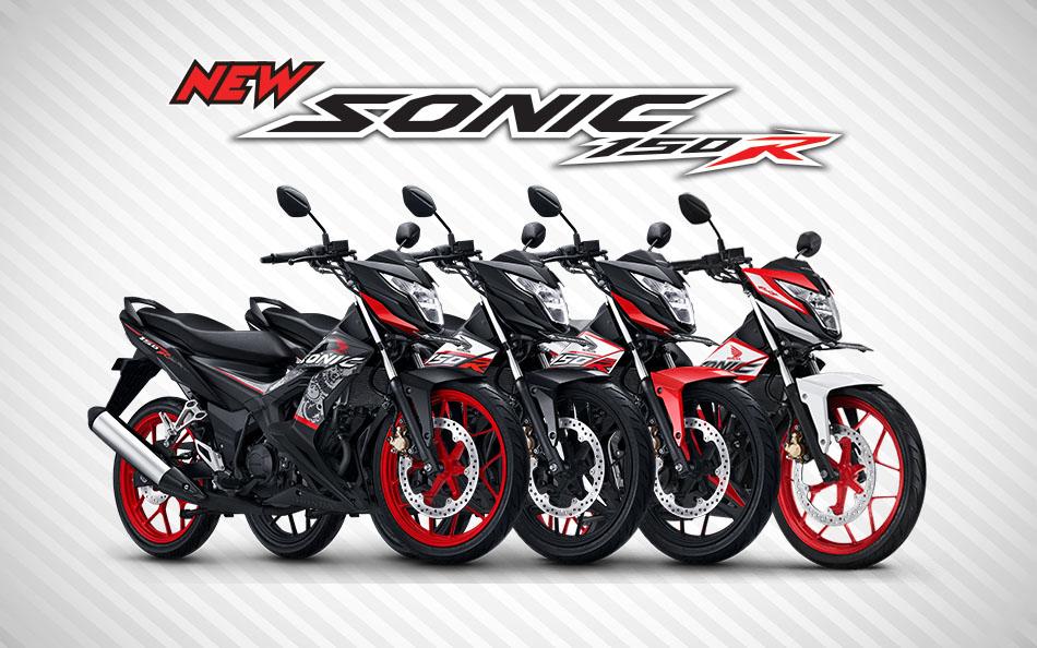 Pilihan Warna Honda Sonic 150R tahun 2018 terbaru