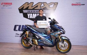 Juara Modifikasi Master Class Aerox 155 CustoMAXI Yamaha 2018 Yogyakarta