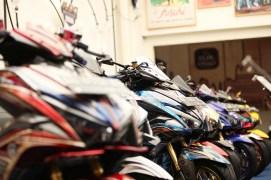 Modifikasi Aerox di CustoMAXI 2018 Yogyakarta