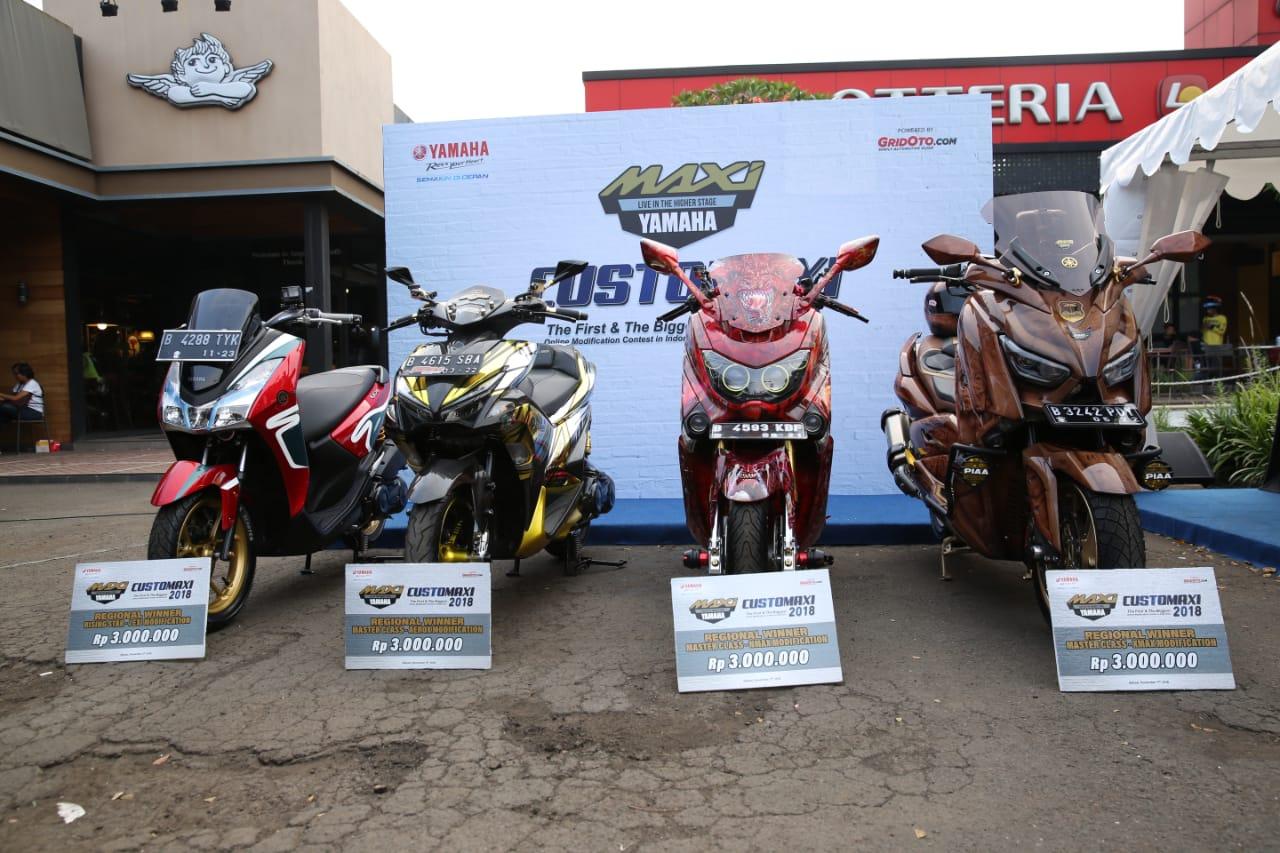 Motor para pemenang kategori Master Class semifinal CustoMAXI Bekasi