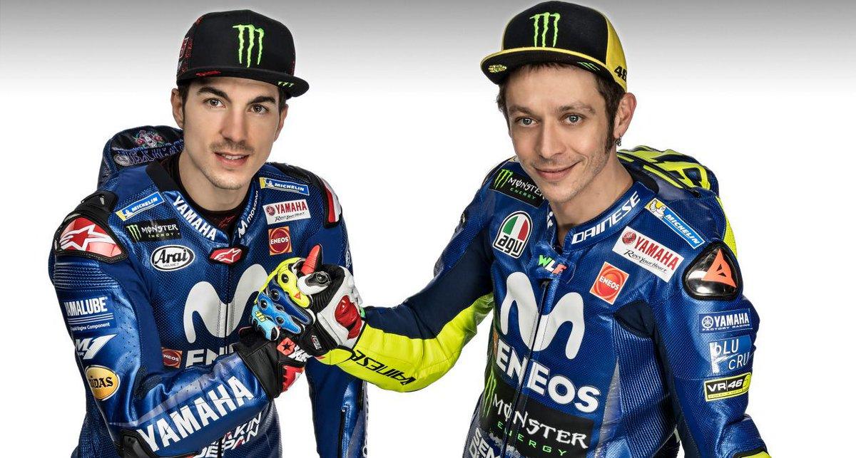 Pembalap Tim Yamaha MotoGP Vinales dan Rossi