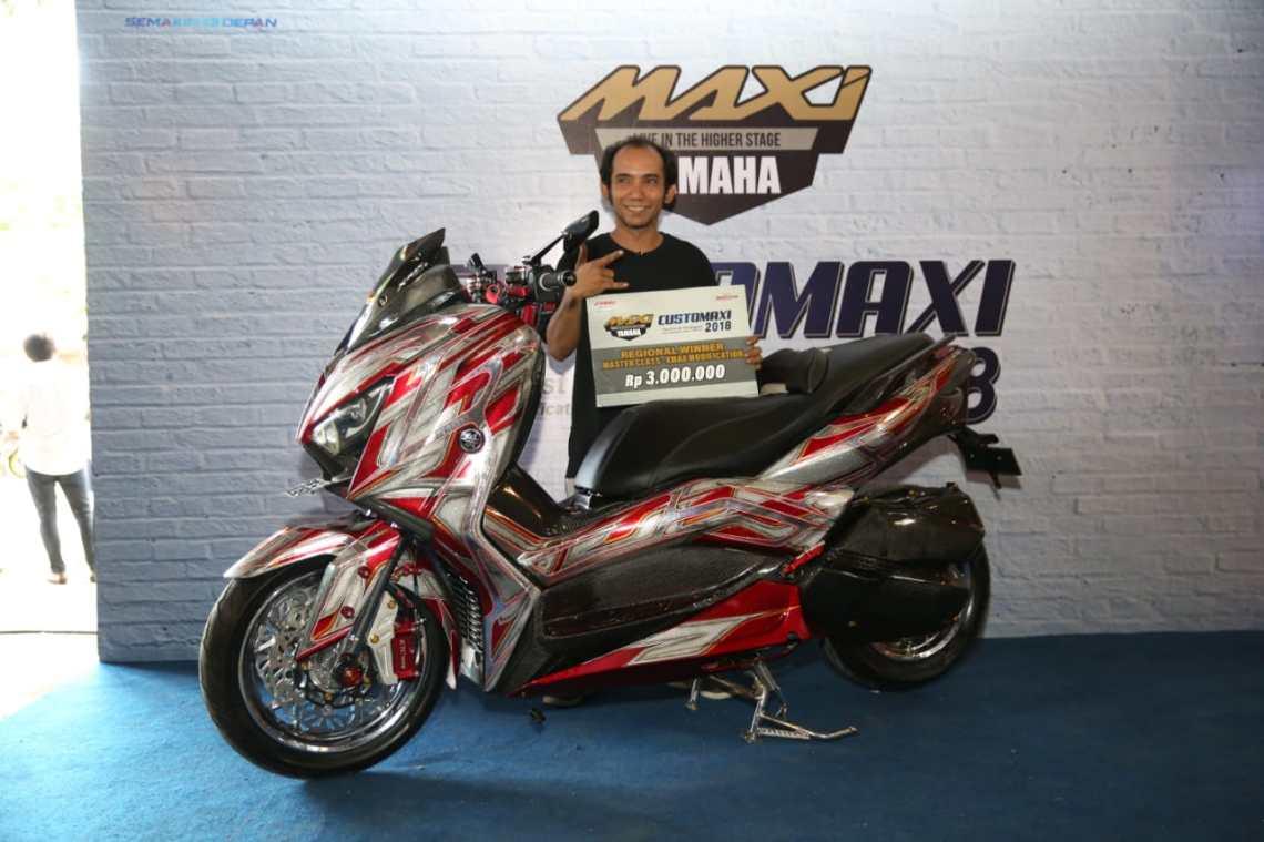 Pemenang Kategori Master Class Modifikasi Xmax CustoMAXI Bali