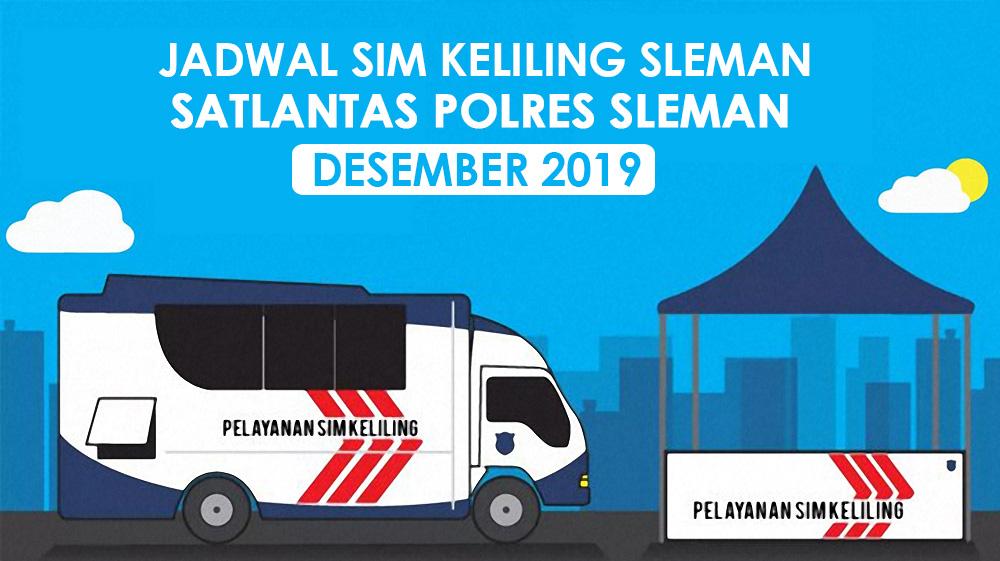 Jadwal SIM Keliling Sleman bulan Desember 2019