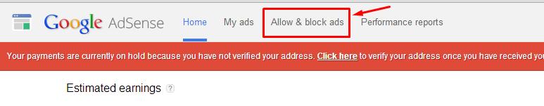 block Urls in Adsense