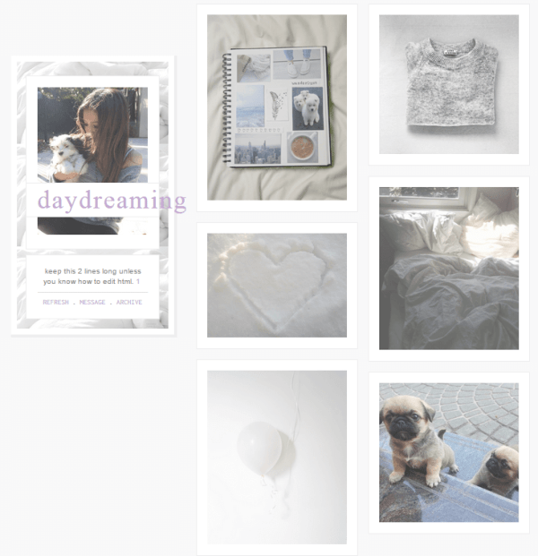 DAY DREAMING TUMBLR THEME