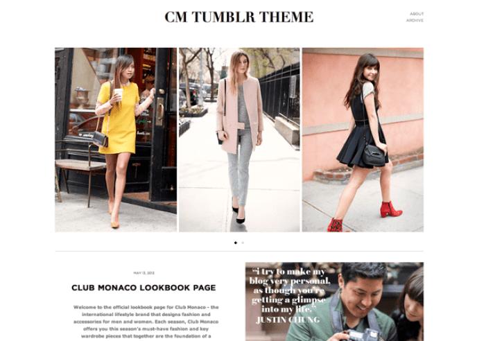 Fashion Life Style Tumblr Theme -Clum Manaco