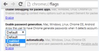 set master password chrome