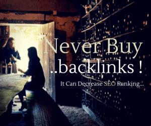 Never Buy Backlinks