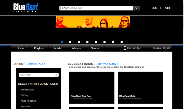 BlueBeat Unblocked Music Site
