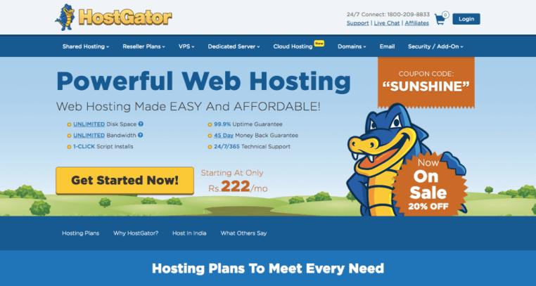 hostgator cheap hosting provider