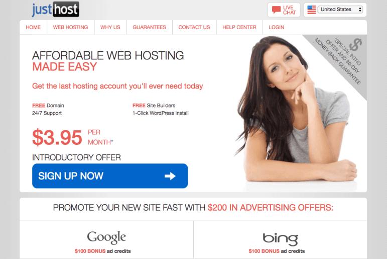 justhost webhosting provider