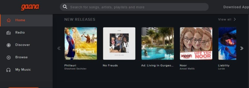 Download free gaana music app