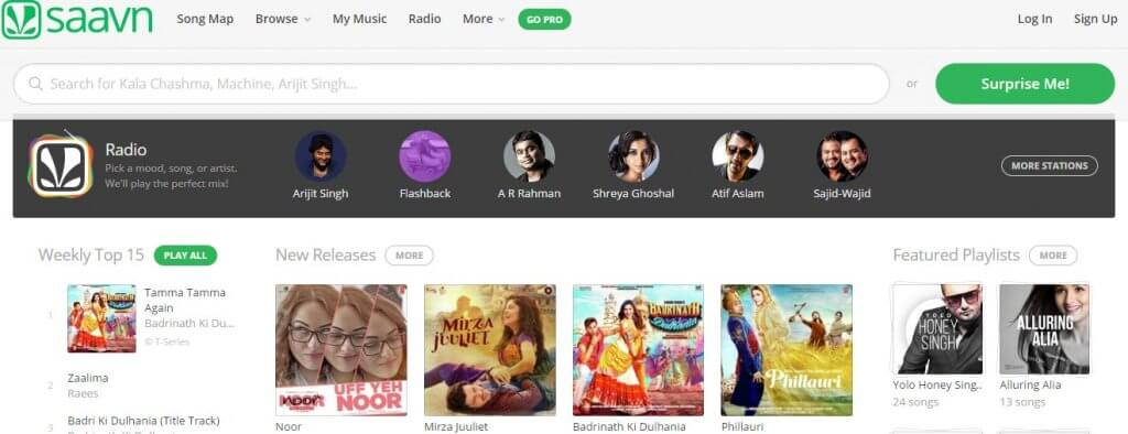saavn free music app for android