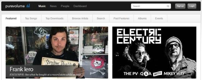 Unblocked Purevolume music site
