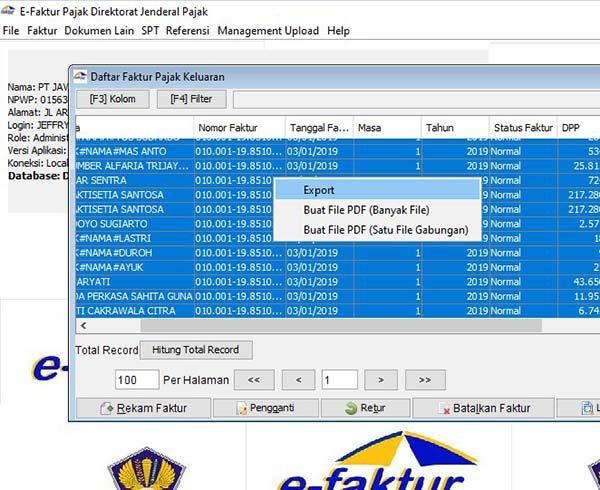 backup data efaktur