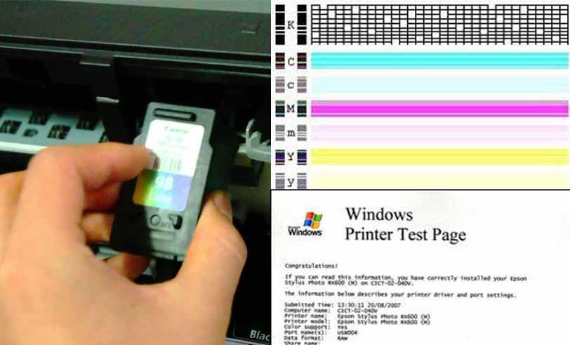 Cara Melakukan Test Printer Untuk Cek Warna