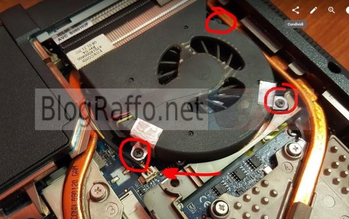 Acer 7720g rimozione ventola