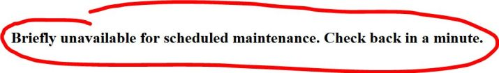 La Soluzione:Briefly Unavailable for Scheduled Maintenance.Check back in a minute