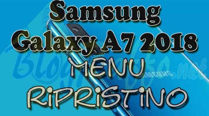 Samsung-Galaxy-A7-2018-Menu-ripristino-hard-reset