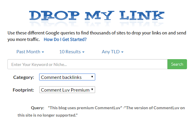 dropmylink-commentluv