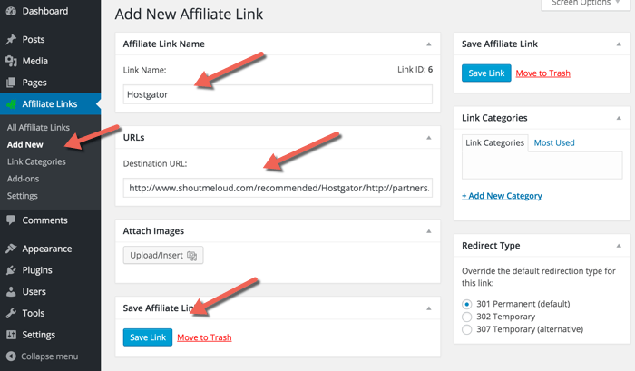 add-new-affiliate-link-easily