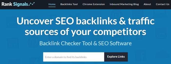 Rank Signals Backlinks Checker Tool