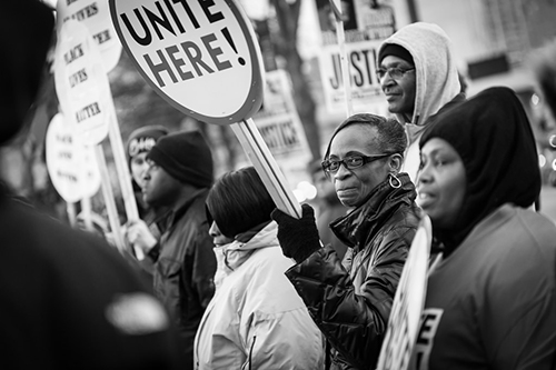 Institutional Racism - a photo from the black lives matter protest. Credit: Dorret from Flickr.