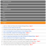 How to Add a Beautiful Accordian Table of Contents for Blogger Blogs