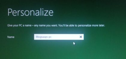 Windows 8 Developer Preview Assign PC Name