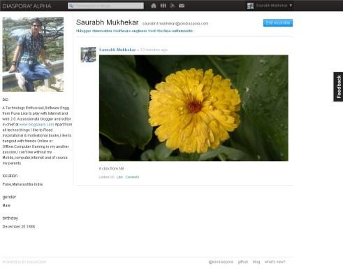 Diaspora Profile Page