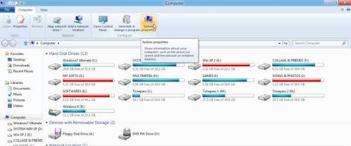 Windows 8 System Properties