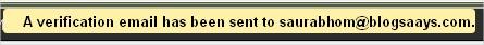 Verification Email Send Notification