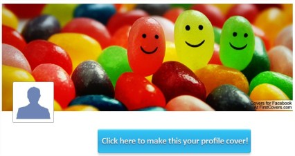 Colorful Jelly Beans Facebook Cover & Colorful Jelly Beans Cover - FirstCovers.com