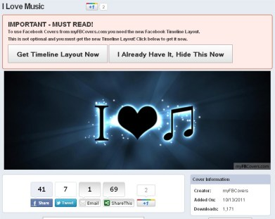 I Love Music Facebook Cover - myFBCovers