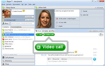 Make video conferencing  in Skype