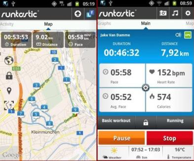 Runtastic Android health apps