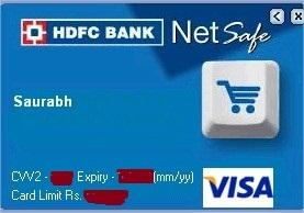 NetSafe Wallet HDFC VCC card