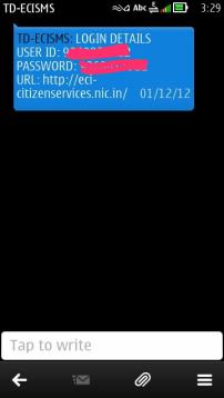 SMS Voter Id online