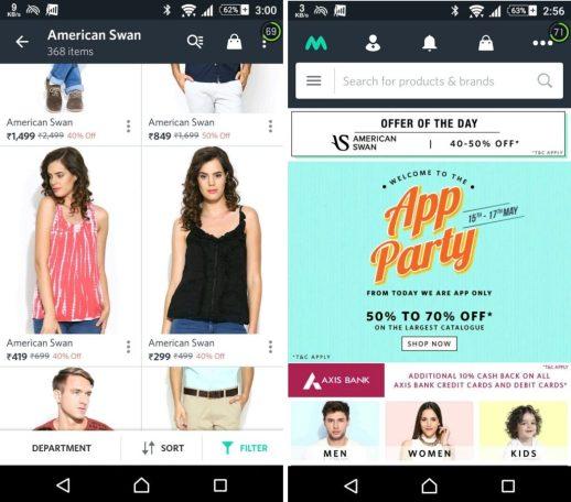 Myntra Mobile App