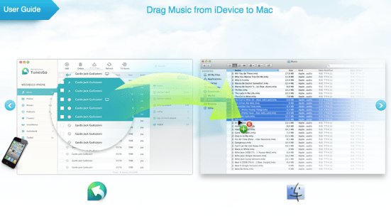 transfer music ios to mac
