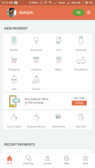 Freecharge-Dashboard