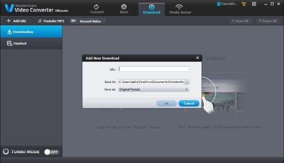 Wondershare Video Converter Video Downloader