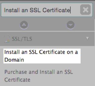 install ssl on domain
