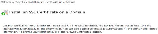 install ssl certificate website
