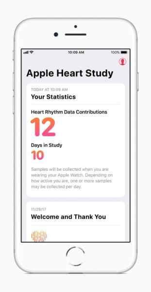 Schermata dell'iPhone con l'app aperta