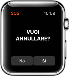 Annullare un SOS su Apple Watch