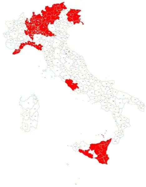 Mappa della copertura dell'app Where Are U