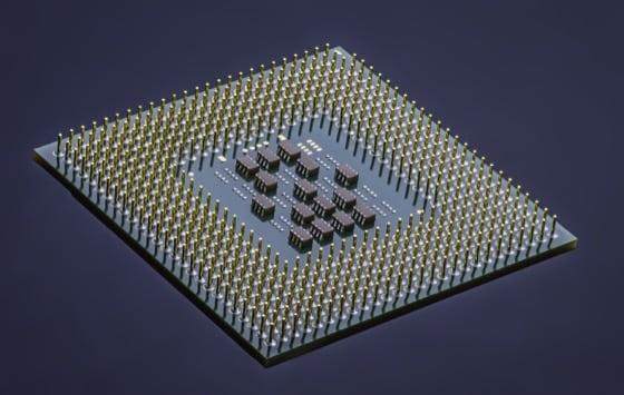 Microprocessore Visto dal Basso
