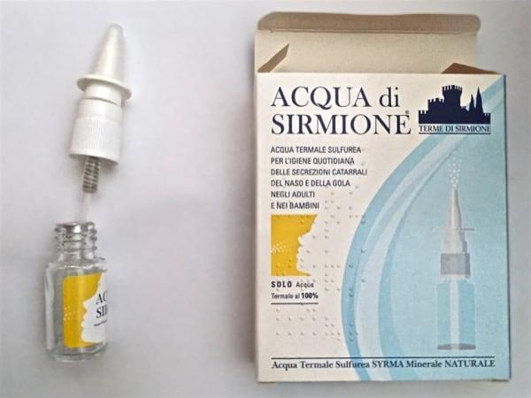 Flaconcino e Spray di Acqua di Sirmione