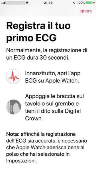 Registra il Tuo Primo ECG sull'Apple Watch